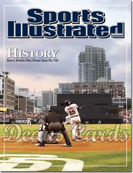 2007 Sports Illustrated   August 13  -  Barry Bonds Home Run 755