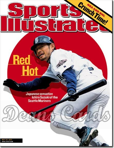 2001 Sports Illustrated - With Label   May 28  -  Ichiro Suzuki Seattle