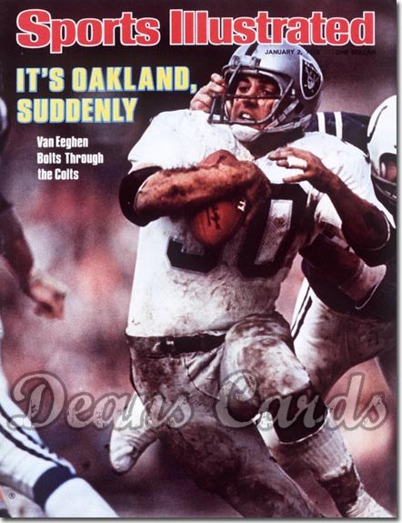 1978 Sports Illustrated - With Label   January 2  -  Mark Van Eeghan (Oakland Raiders)