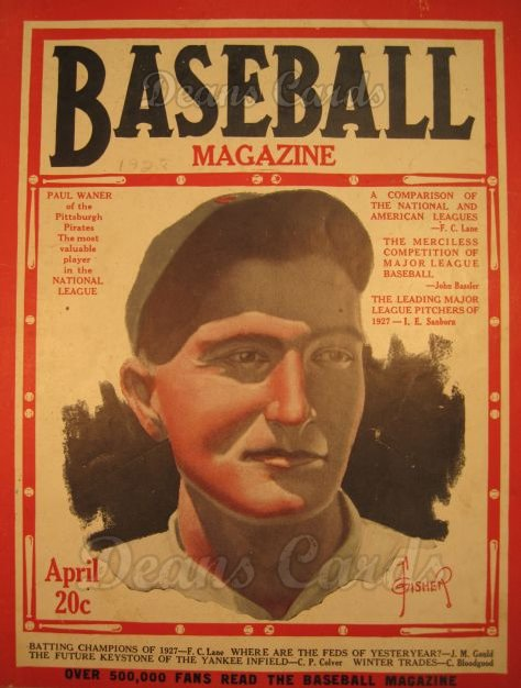 1928 Baseball Magazine    April