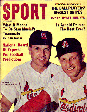 1962 Sport Magazine   -  Stan Musial / Ken Boyer  September