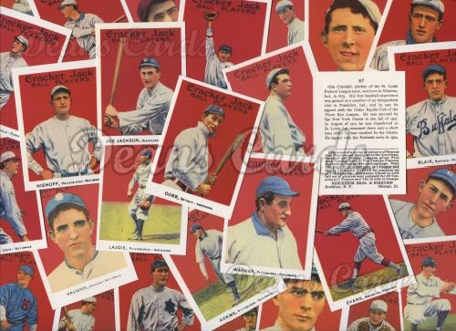 1915 Cracker Jack Reprints     Complete Set