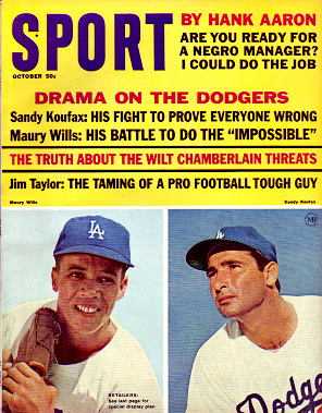 1965 Sport Magazine   -  Sandy Koufax / Maury Wills  October