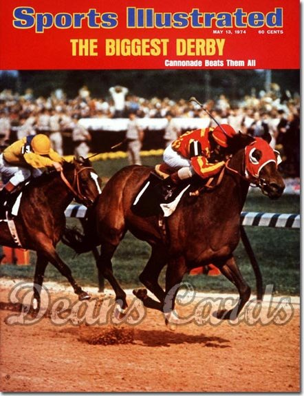 1974 Sports Illustrated - With Label   May 13  -  Angel Cordero (Jockey)/Cannonade (Kentucky Derby)