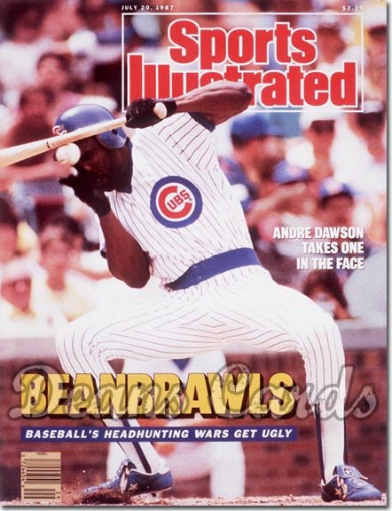 1987 Sports Illustrated - With Label   July 20  -  Andre Dawson (Chicago)