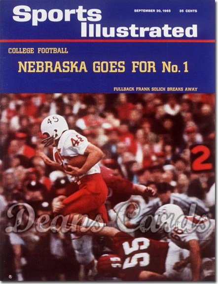 1965 Sports Illustrated - With Label   September 20  -  Frank Solich (Nebraska Cornhuskers)