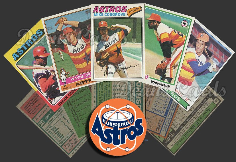 1975 Topps   -79  Houston Astros Team Starter Set / Lot - Md
