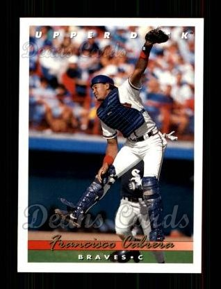 1993 Upper Deck #611  Francisco Cabrera