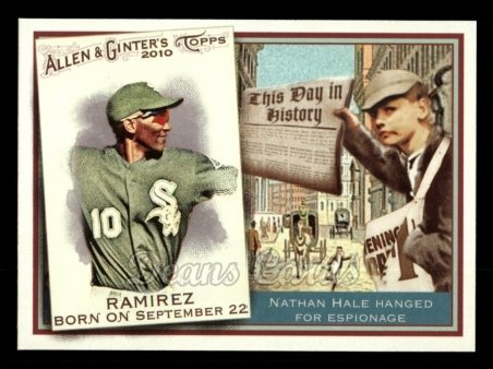2010 Topps Allen & Ginter This Day In History #69 TDH  -  Alexei Ramirez This Day in History