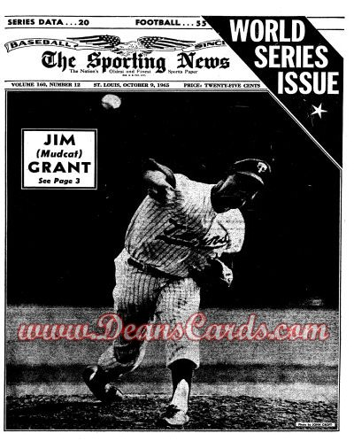 1965 The Sporting News   October 9  - Jim Grant / World Series Issue