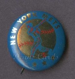 1968 Cranes Potato Chip Pin #14   New York Mets
