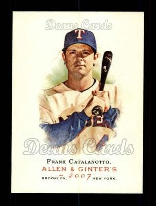 2007 Topps Allen & Ginter #198  Frank Catalanotto