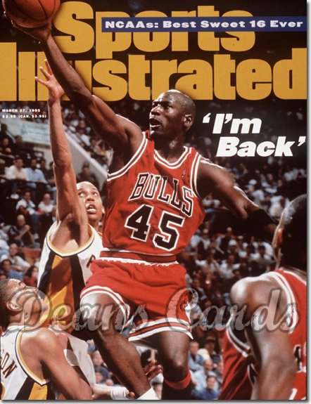 1995 Sports Illustrated - With Label   March 27  -  Michael Jordan (Chicago Bulls)