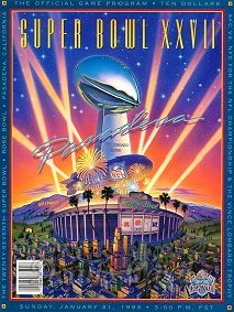 1993 Super Bowl XXVII Program - Dallas vs. Buffalo