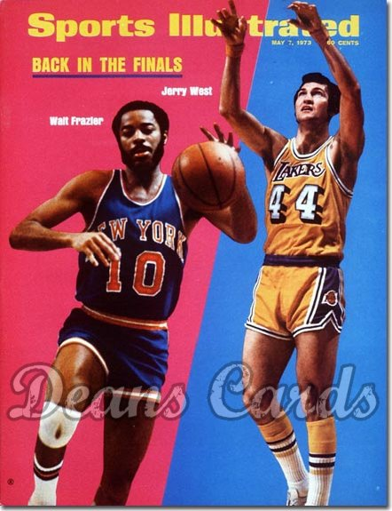 1973 Sports Illustrated - With Label   May 7  -  Jerry West & Walt Frazier Knicksvs Lakers