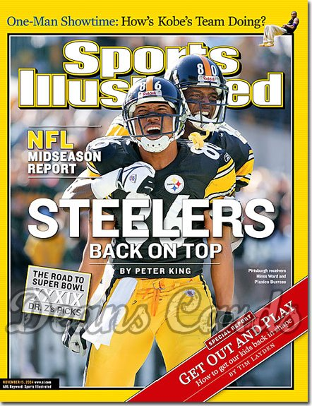 2004 Sports Illustrated   November 15  -  Hines Ward Plaxico Burress Pittsburgh