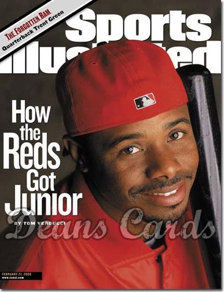 2000 Sports Illustrated - With Label   February 21  -  Ken Griffey Jr. Cincinnati Reds