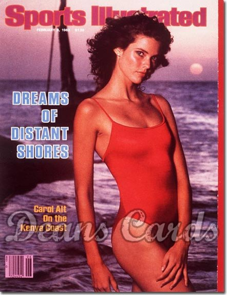 1982 Sports Illustrated - With Label   February 8  -  Carol Alt Swimsuit Issue