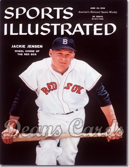 1958 Sports Illustrated - With Label   June 23  -  Jackie Jensen (Boston Red Sox)