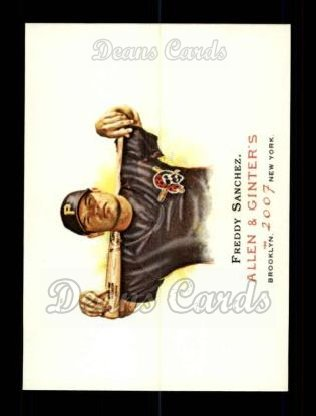 2007 Topps Allen & Ginter #201  Freddy Sanchez