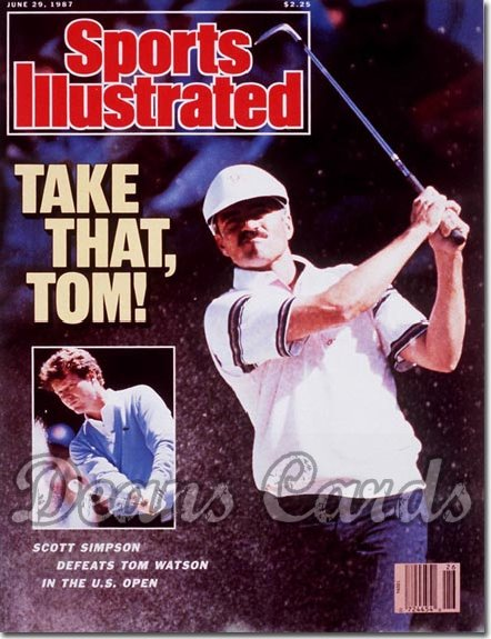 1987 Sports Illustrated - With Label   June 29  -  Scott Simpson
