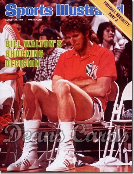 1978 Sports Illustrated - With Label   August 21  -  Bill Walton (Portland Trail Blazers)
