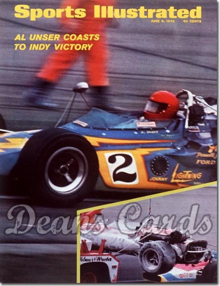 1970 Sports Illustrated - With Label   June 8  -  Al Unser