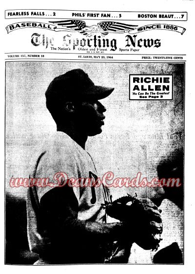 1964 The Sporting News   -  Rich Allen May 23  - Dick Allen / Willie Mays