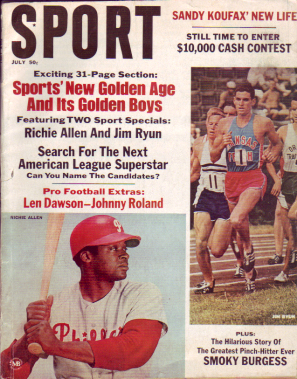 1967 Sport Magazine   -  Jim Ryun / Rich Allen  July