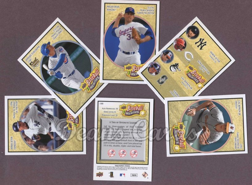 2008 Upper Deck Heroes     Baseball Complete Set