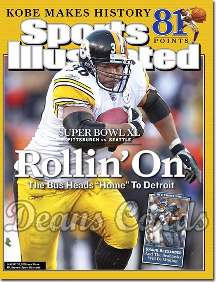 2006 Sports Illustrated   January 30  -  Jerome Bettis Pittsburgh Steelers