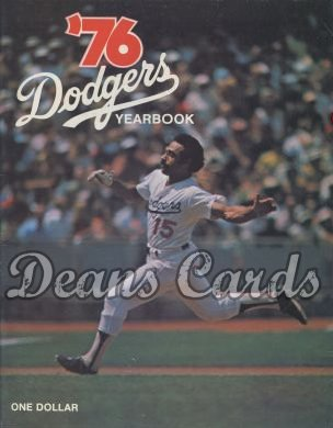 1976 Los Angeles Dodgers Yearbook - Davey Lopes