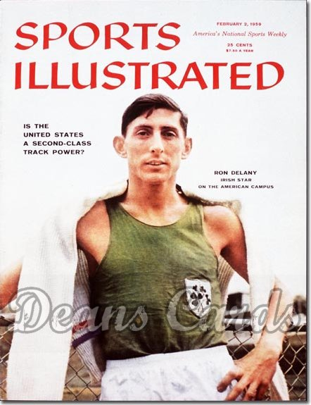 1959 Sports Illustrated - With Label   February 2  -  Ron Delaney Villanova Ireland Track Star