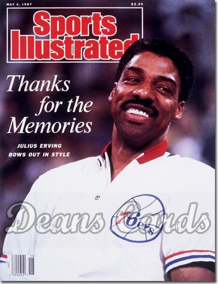 1987 Sports Illustrated - With Label   May 4  -  Julius Erving (Philadelphia 76ers)