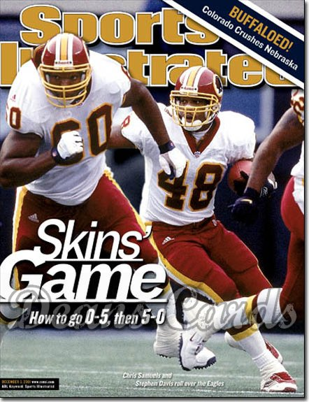2001 Sports Illustrated - With Label   December 3  -  Chris Samuels & Stephen Davis Washington Redskins