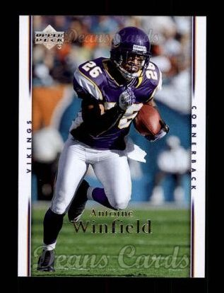2007 Upper Deck #102  Antoine Winfield