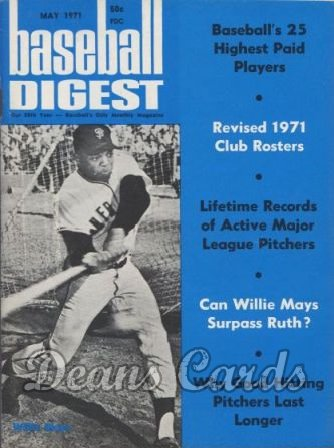 1971 Baseball Digest   -  Willie Mays  May