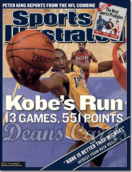 2003 Sports Illustrated   March 3  -  Kobe Bryant (LA Lakers)