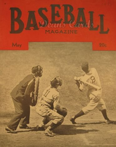 1938 Baseball Magazine    May
