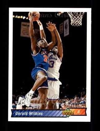 1992 Upper Deck #411  Gerald Wilkins