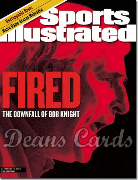 2000 Sports Illustrated   September 18  -  Bob Knight (Indiana Hoosiers)