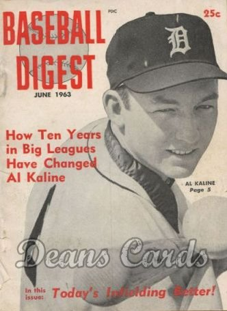 1963 Baseball Digest   -  Al Kaline  June