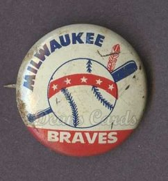 1968 Cranes Potato Chip Pin #12   Milwaukee Braves