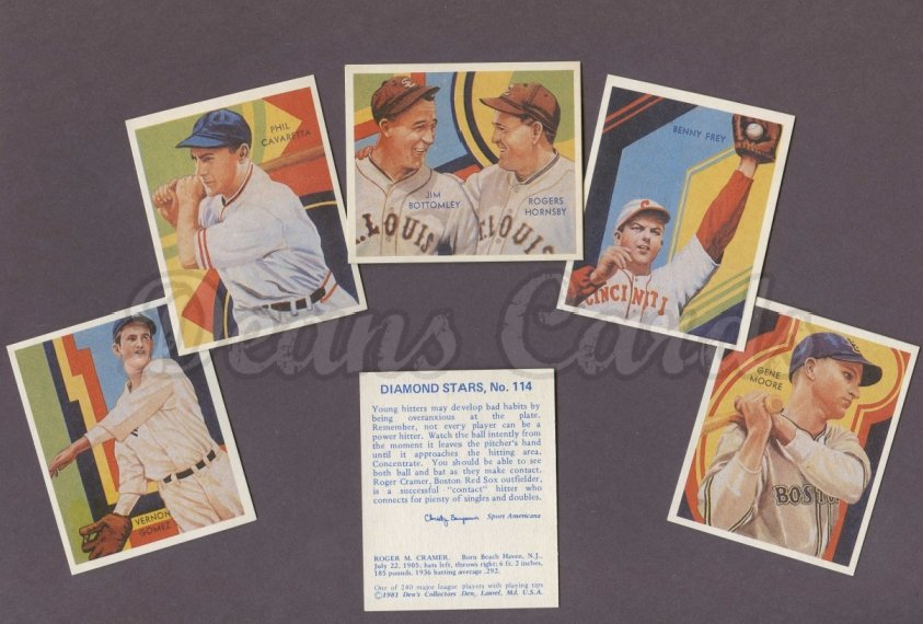 1937 Diamond Stars Reprints    Diamond Stars Extension Reprint Set