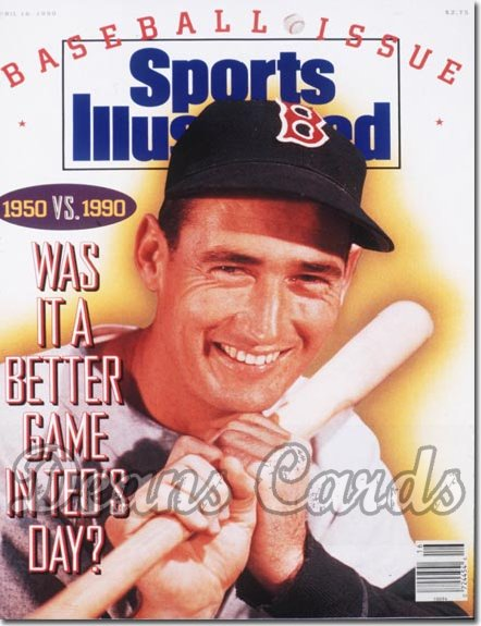 1990 Sports Illustrated - With Label   April 16  -  Ted Williams Boston Red Sox SI