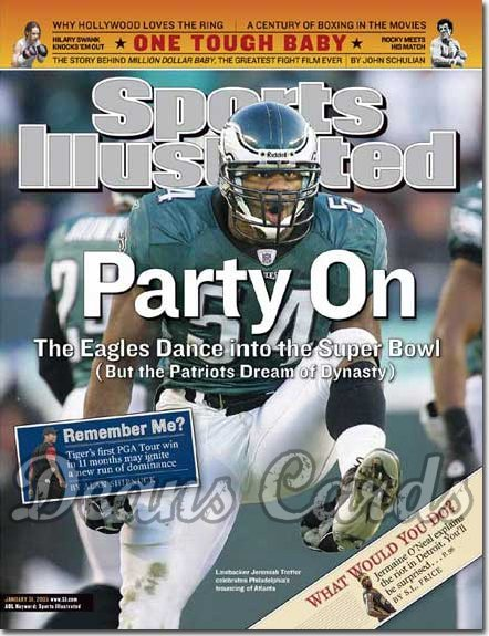 2005 Sports Illustrated - With Label   January 31  -  Jeremiah Trotter Philadelphia Eagles Beat Atlanta Falcons