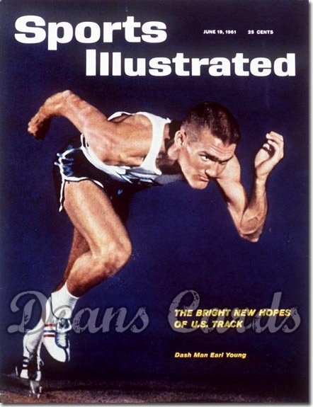 1961 Sports Illustrated   June 19  -  Earl Young Abilene Christian University Track