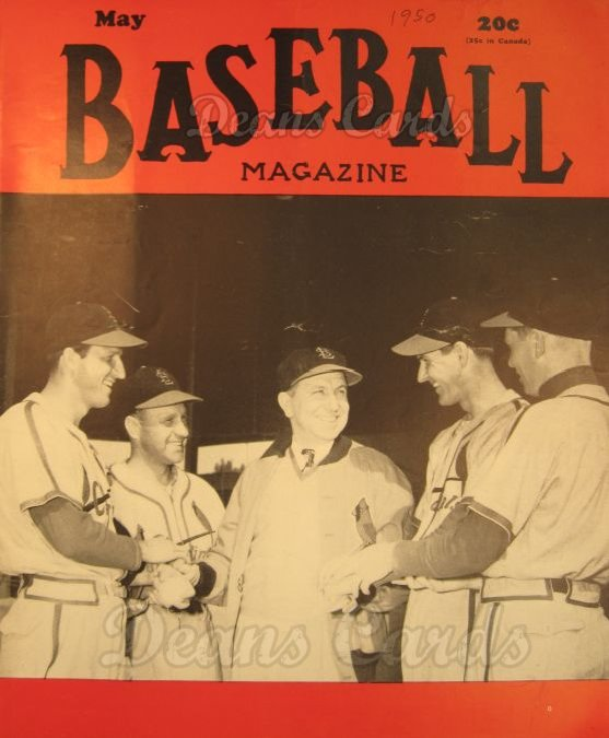 1950 Baseball Magazine    May