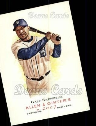 2007 Topps Allen & Ginter #170  Gary Sheffield