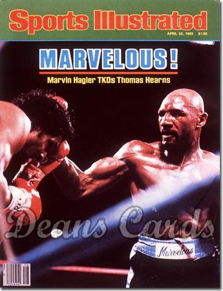 1985 Sports Illustrated - No Label   April 22  -  Marvin Hagler & Thomas Hearns